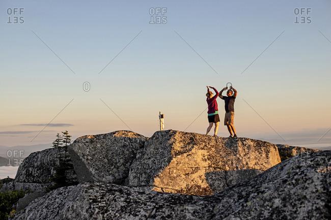 Couple celebrates reaching Appalachian Trail mountain summit in Maine