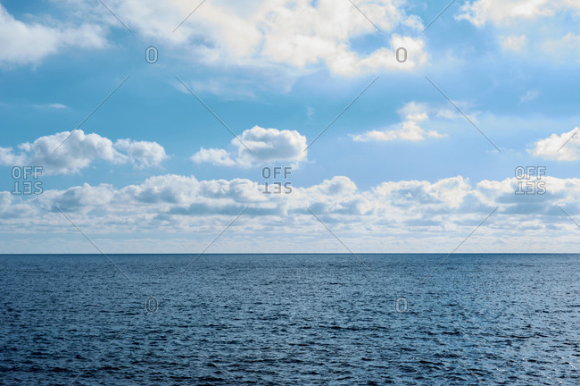 gorgeous, blue sky with fluffy clouds, textures copy space background