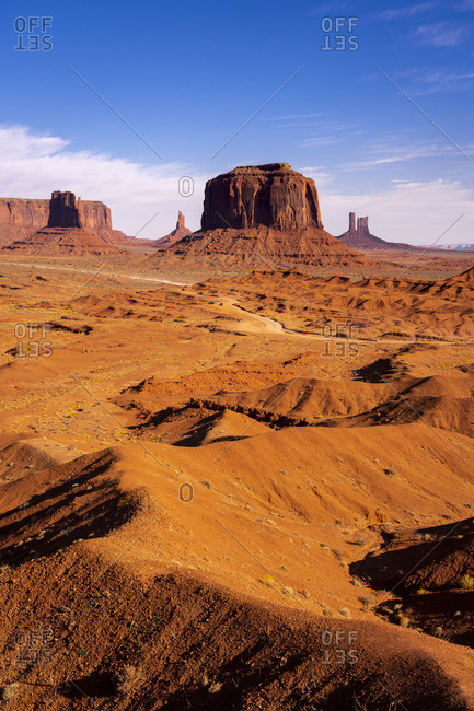 Rock formations seen from John Ford Point, Monument Valley, Arizona, USA