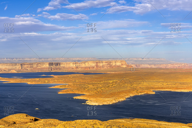 Shore of Lake Powell seen from Wahweap Overlook, Page, Arizona, USA