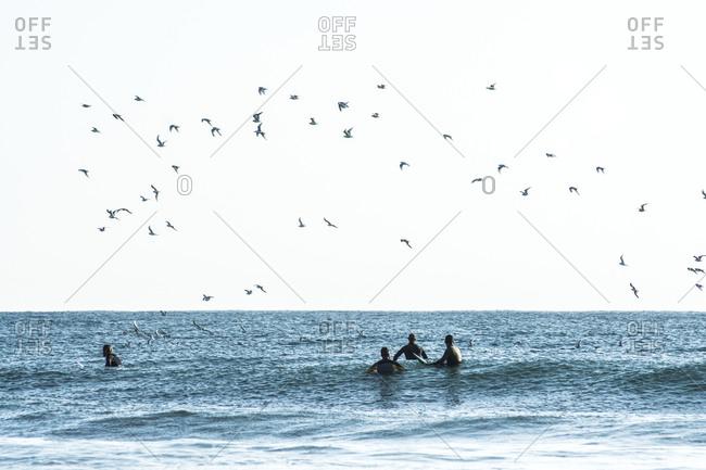 Almeria, AL, Spain - February 25, 2019: disconnect to connect in sea