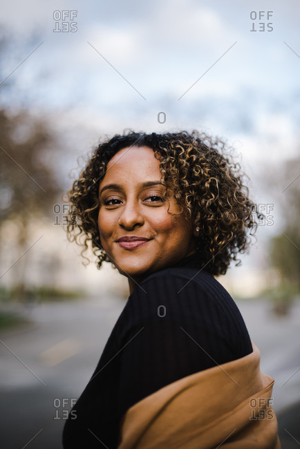 Portrait of a beautiful women in turtle neck