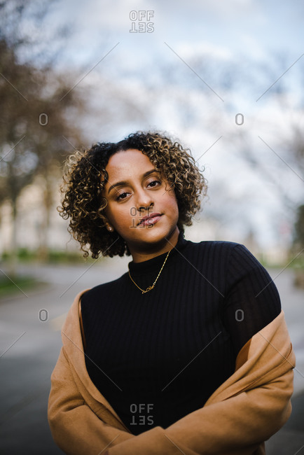 Portrait of a confident women in turtle neck