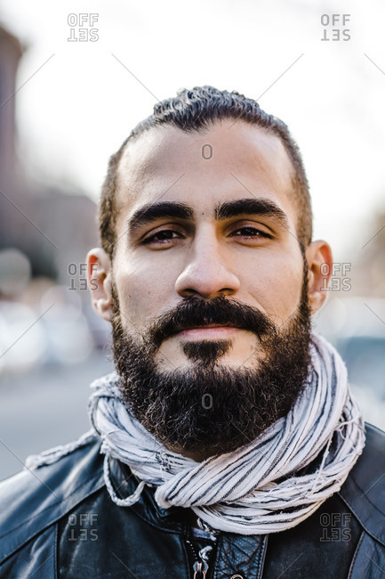 Close up portrait of a Middle Eastern man