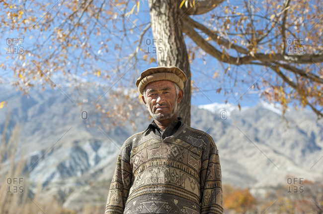 A man from the village of Merchulu in the Hushe valley