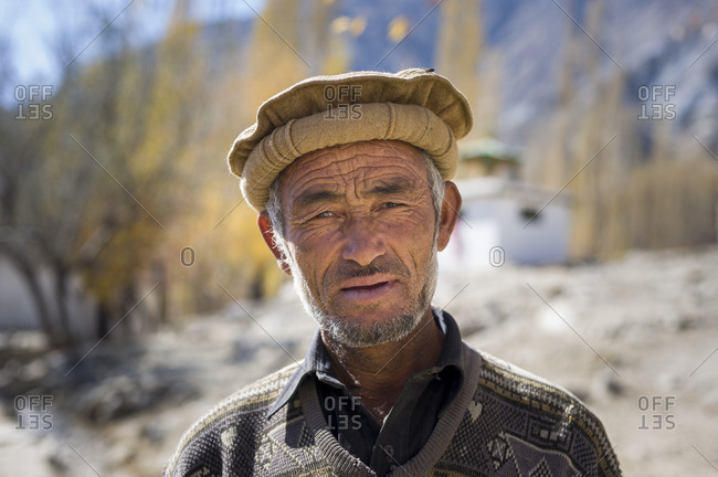 A man from the village of Merchulu in the Hushe valley in northern Pakistan