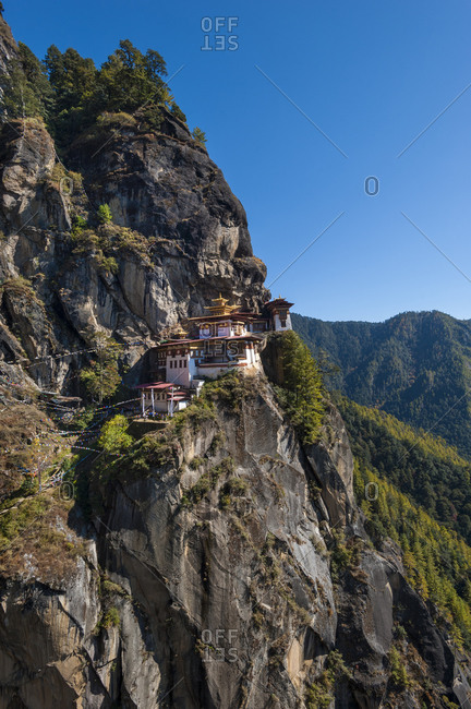 Spectacular Taktshang Goemba also know as 'The Tiger's nest' in Bhutan