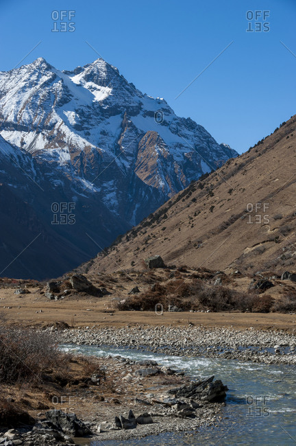 Near Jangothang on the Laya-Gasa trekking route in northern Bhutan