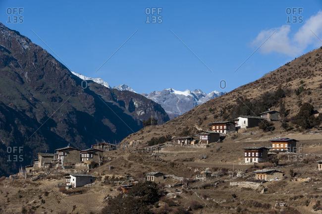 The beautiful village of Laya in Bhutan