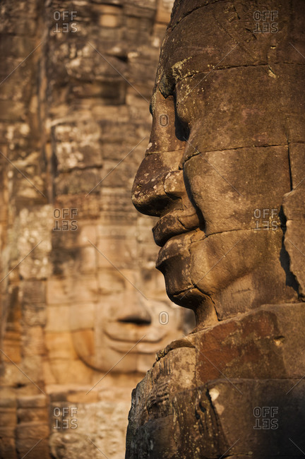 The enigmatic faces of Bayon temple at Angkor Wat