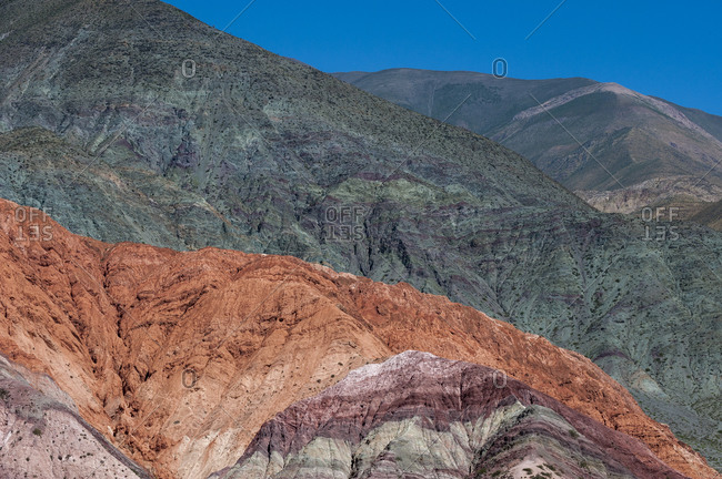 The hill of seven colors near the Salinas Grandes in Jujuy province