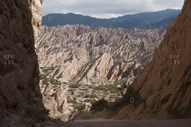 Dramatic rock formations of Calchaqui valleys and the Quebrada de las Flechas