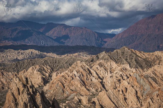 Rock formations at Quebrada de las Flechas