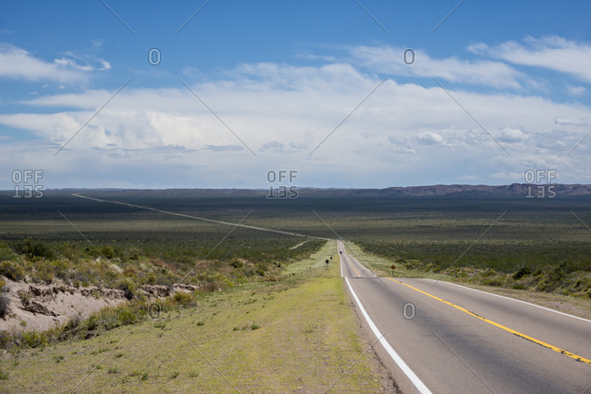 Route 40 in Argentina between Malargue and Mendoza