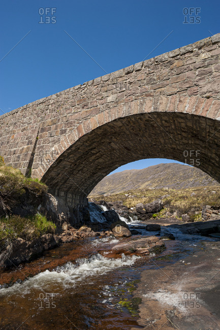 A traditional old bridge in the highlands of Scotland
