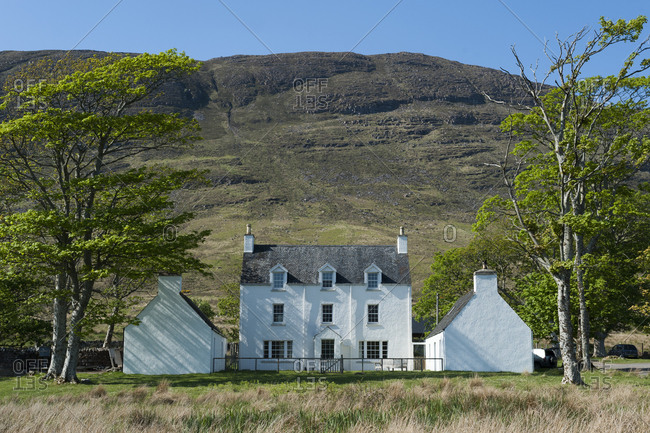 A perfectly symmetrical and typical house in Scotland