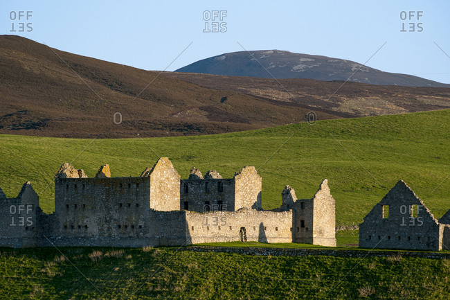 Ruthven Barracks in the Cairngorms national park in Scotland