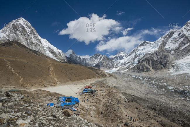 Gorek Shep at 5100m is the last village on the trek to Everest Base Camp.