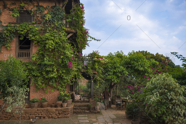 An historical Newari farmhouse in the traditional village of Nuwakot in Nepal