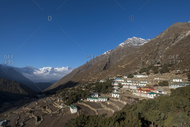 Old Pangboche In the Khumbu valley in the Everest region of Nepal