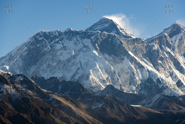 Mount Everest seen here from Yeti Mountain Home at Kongde