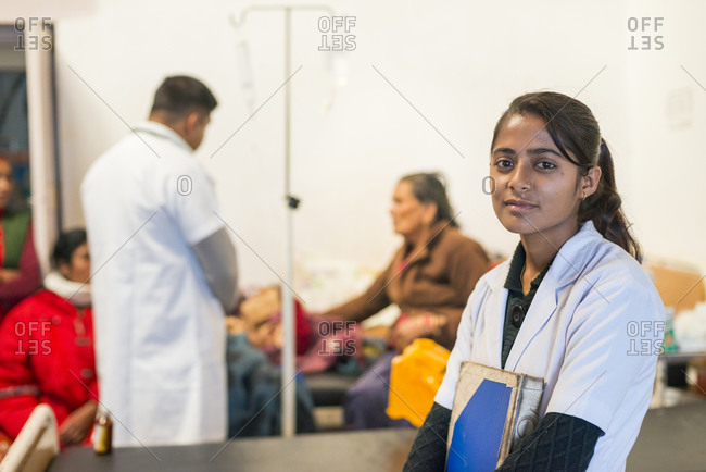 A young nurse in a rural hospital in Nepal