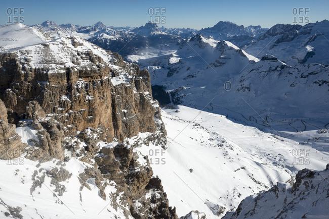 The Sella Massif in the Italian Dolomites
