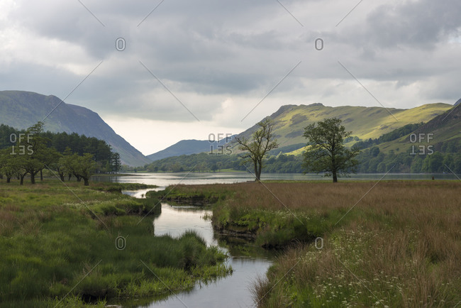 Buttermere in The Lake District in England