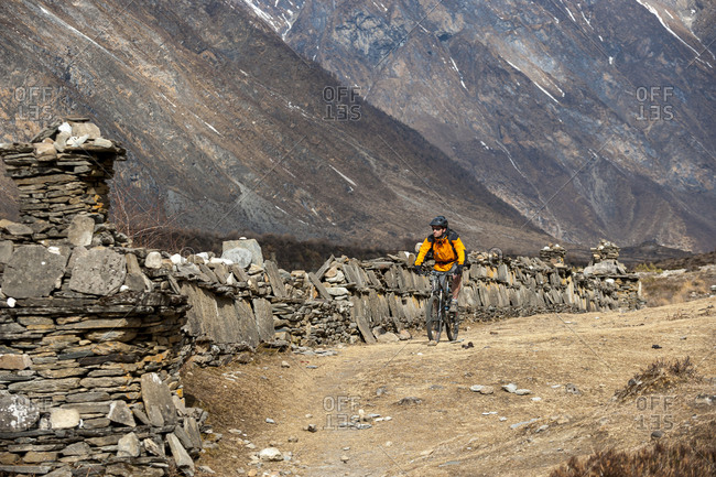 The Tsum valley has lots of long Mani walls, stones inscribed with a Buddhist prayer