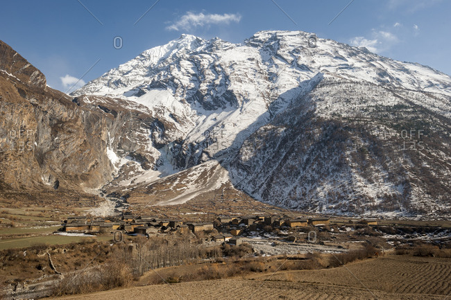 The village of Chule in the Tsum valley