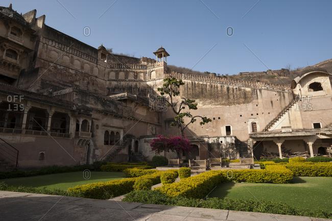 Gardens within Bundi palace in Rajasthan