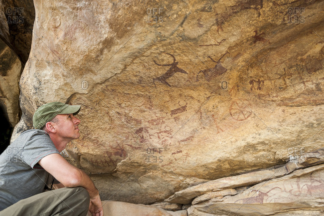 Ancient rock paintings near Bundi estimated to be 15000 years old bearing proof the region sustained early man