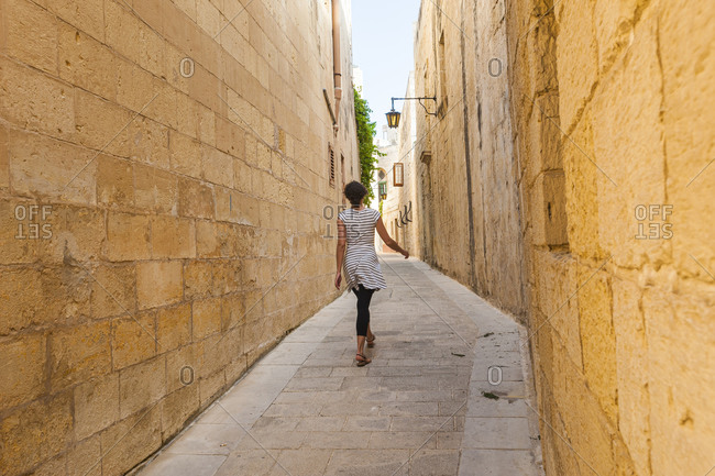 Exploring the backstreets of medieval Mdina, the old capital of Malta