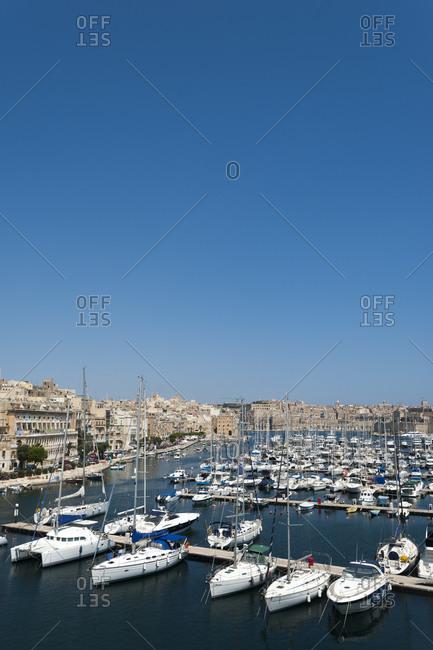 The marina at Vittoriosa in the three cities near Valletta on Malta