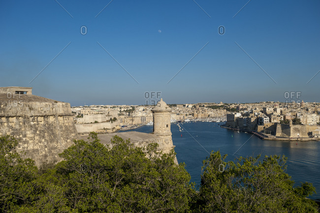 Looking across to Vittoriosa and the Three Cities from in Malta