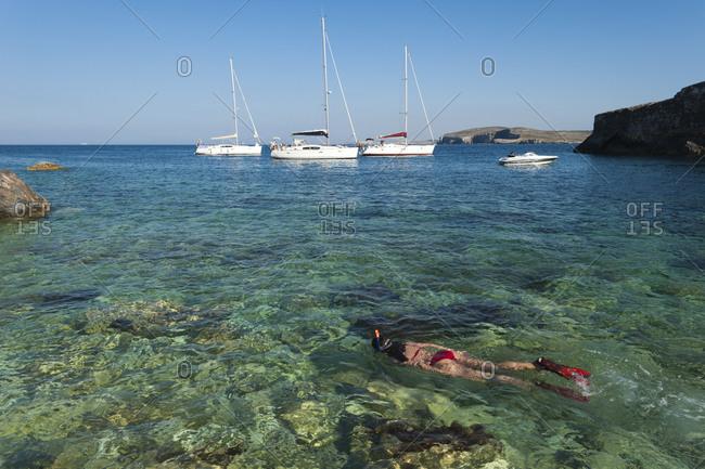 Snorkeling on the little Maltese island of Gozo