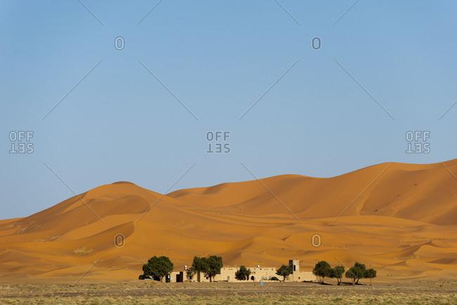 Erg Chebbi sand dunes at sunset