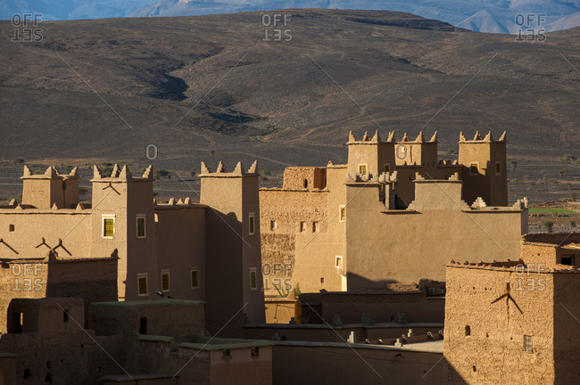 Rooftops and Kasbahs in the ancient Moroccan town of N'Kob