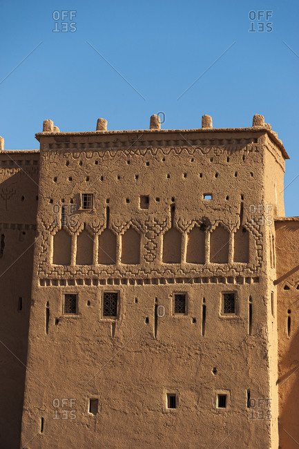 Ancient kasbah in Ouazarzate in southern Morocco