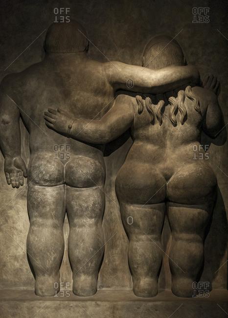 Bogota, Colombia - February 3, 2013: Fernando Botero sculpture at the Museo Botero