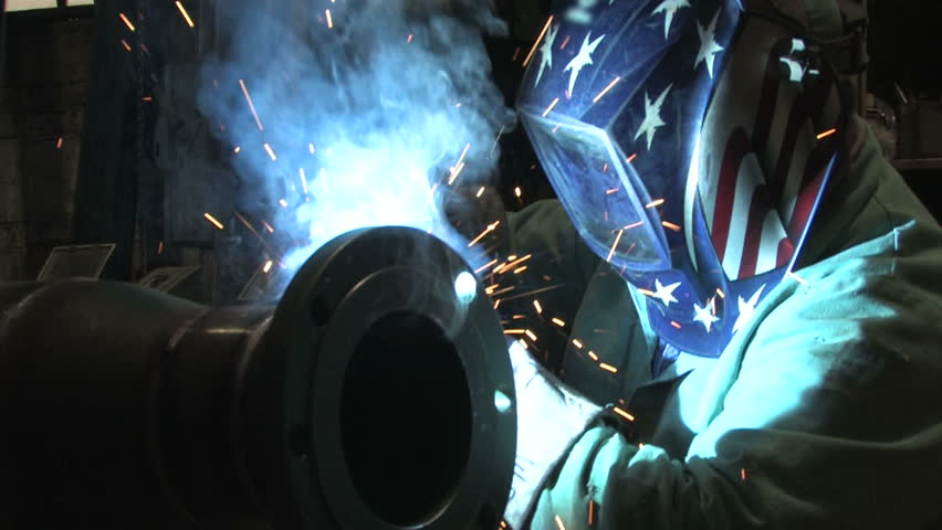 Man Welding, Close Up 1