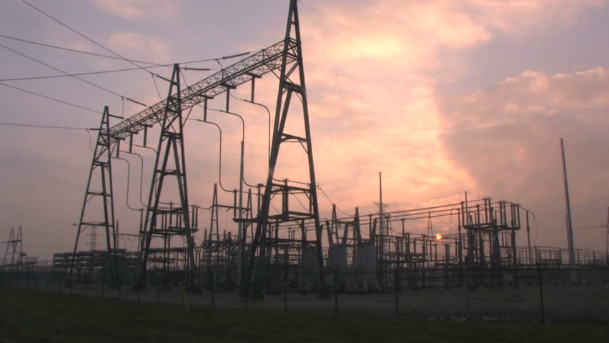 Power Substation Time Lapse