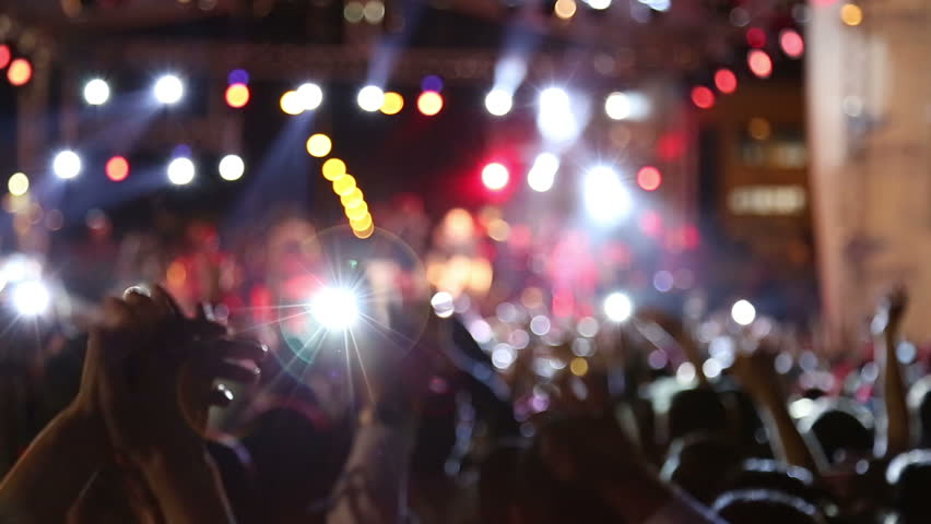 Blurred Crowd dancing  | Shutterstock HD Video #10048811