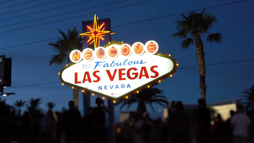 High quality video of welcome to fabulous Las Vegas Sign at night  | Shutterstock HD Video #1005599467