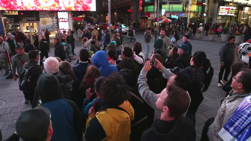 NEW YORK - APRIL 19, 2015: Times Square visitors #10065458