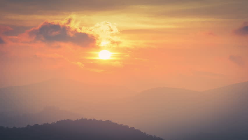 Beautiful Time Lapse Of Sunset Over Hills Near Ooty Tamilnadu | Shutterstock HD Video #1006639315
