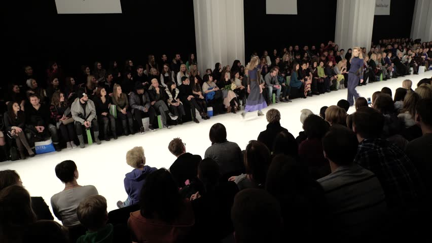 KYIV, UKRAINE - FEBRUARY 4, 2017. The catwalk during the fashion show #1006664815