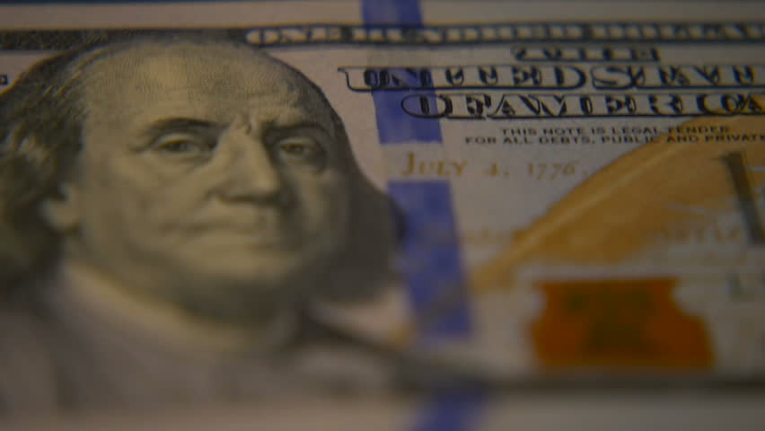 Dollar bills close-up. Macro photography of bank notes. Portrait of George Washington. | Shutterstock HD Video #1006680685