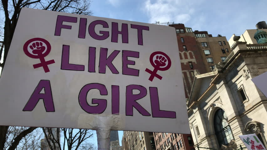 Women's march_2018__new york city_fight like a girl sign
