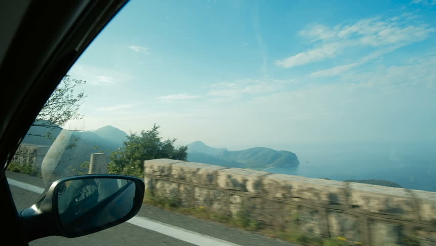 Video footage of driving on a highway in the Montenegro. View from the car moving along the tunnel | Shutterstock HD Video #1006689799